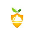 eco food protection vegetarian logo vector image