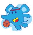 Elephant Basketball vector image