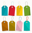 Empty Colorful Labels Set Isolated on White vector image