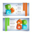 geometric infographic horizontal banners vector image