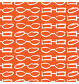 Glasses and Sunglasses Orange Seamless Pattern Ske vector image
