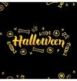Halloween Gold Lettering over Black vector image