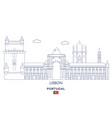 lisbon city skyline vector image