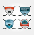 set of colorful hockey logos vector image