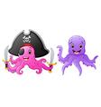 set of octopus cartoon vector image