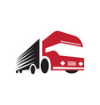 truck logo design fast delivery vector image