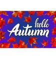 Hello Autumn Goodbye Summer The trend vector image