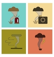 assembly flat icons natural disaster tornado vector image