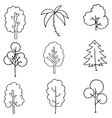 Hand draw tree set on doodles vector image