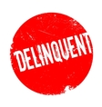 Delinquent rubber stamp vector image