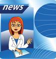 Cartoon new presenter vector image