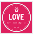 Happy valentine s day card3 vector image