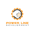 power line development vector image