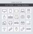 Electronic IT Digital Equipment and Devices Icons vector image