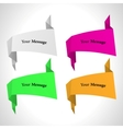 color origami labels set vector image