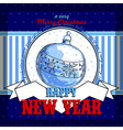 Design New Year card vector image vector image