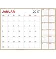 German Calendar 2017 vector image vector image