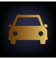 Car sign Golden style icon vector image