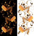 orange ornament on a black and white background vector image vector image