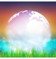 Abstract background of globe with grass View at vector image