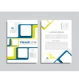 Brochure layout with place for your data vector image