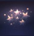 Defocused magic star background vector image