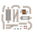 railroad platform and wagon vector image