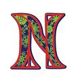 winter letter N vector image