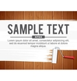 Paint Roller Painting White vector image vector image