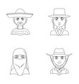 a mexican a jew a woman from the middle east an vector image