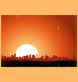 summer sunrise city vector image