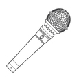 Outline stage microphone vector image