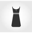 dress icon flat design vector image vector image