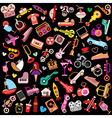 objects on black vector image vector image