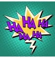 haha comic bubble retro text vector image