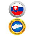 Button as a symbol SLOVAKIA vector image