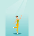 cheerful caucasian woman dancer dancing vector image