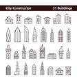 Cityscape constructor vector image
