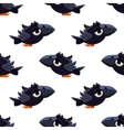 Cute Black Crow Seamless Pattern vector image