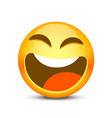 happy emoji face object on white background vector image
