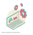 Isometric design modern concept of website vector image