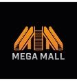 Logo of Mega Mall shop Template logo of offline vector image