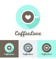 modern flat coffee shop or cafe logo vector image