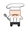 profession character chef vector image