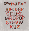 vintage quirky hand drawn font vector image