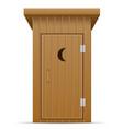 wooden outdoor toilet vector image