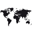 Black map of world vector image vector image