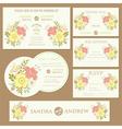 spring wedding invitation cards set vector image