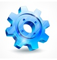 Blue gear on white vector image