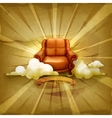 Chair old style background vector image vector image